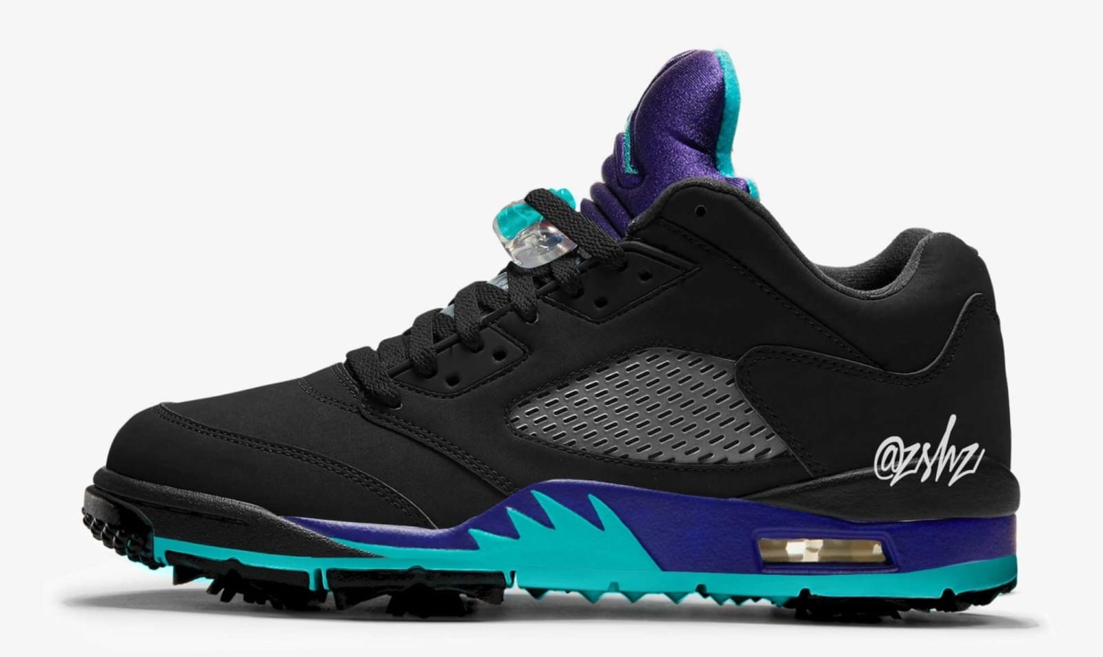 "Air Jordan 5 ""Black Grape"" To Receive The Golf Shoe Treatment: Details"