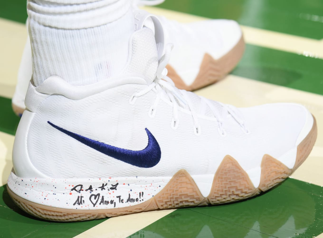 608bd4e572237d Nike Kyrie 4  Uncle Drew  White Gum 943807-100 Release Date