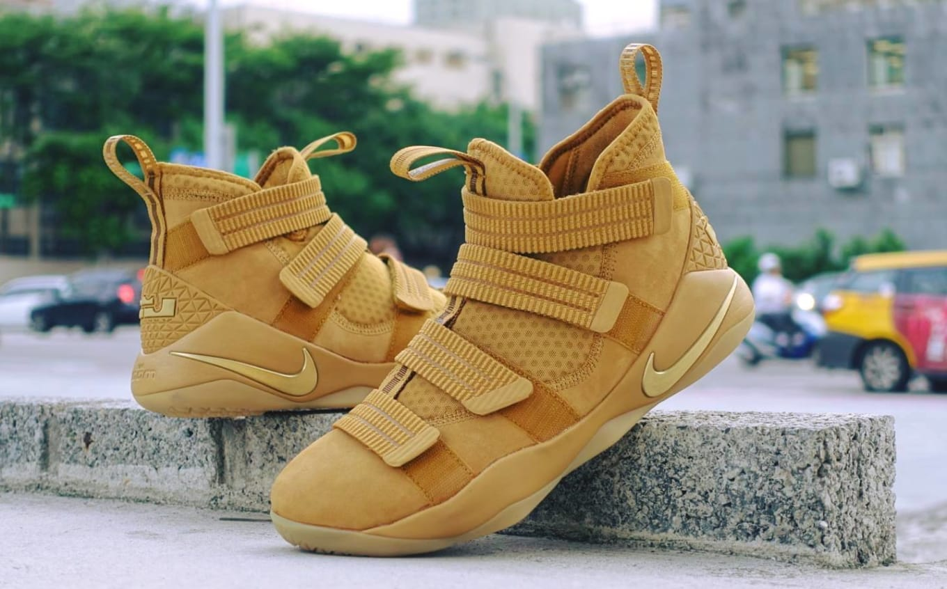 brand new 88c6e d4acf The Nike LeBron Soldier 11 Carries on Tradition. Wheat colorway available  now.