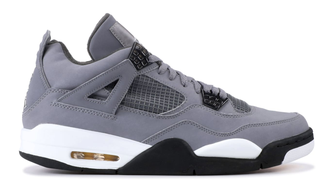 b98e04f827466a Air Jordan 4  Cool Grey Chrome-Dark Charcoal-Varsity Maize  308497