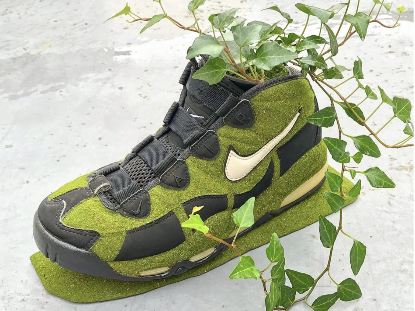 990b02810a8a This Artist Keeps Vintage Nikes Alive by Turning Them Into Plants. Meet  Kosuke Sugimoto