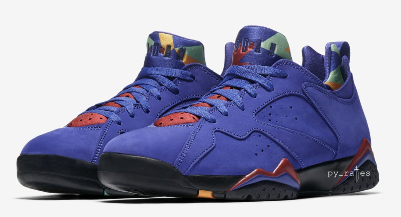 ac9b08e499c0 Air Jordan 7 Low NRG  Bordeaux   Bright Concord   Taxi  Release Date ...