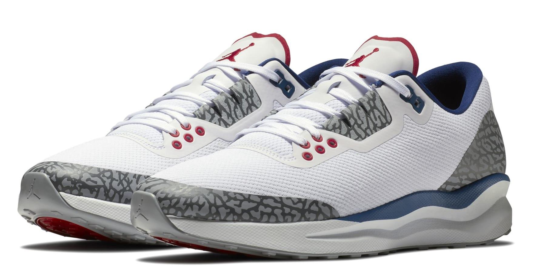 Nike Air Jordan Zoom Tenacity 88 White/True Blue Cement Mens Retro Running NEW