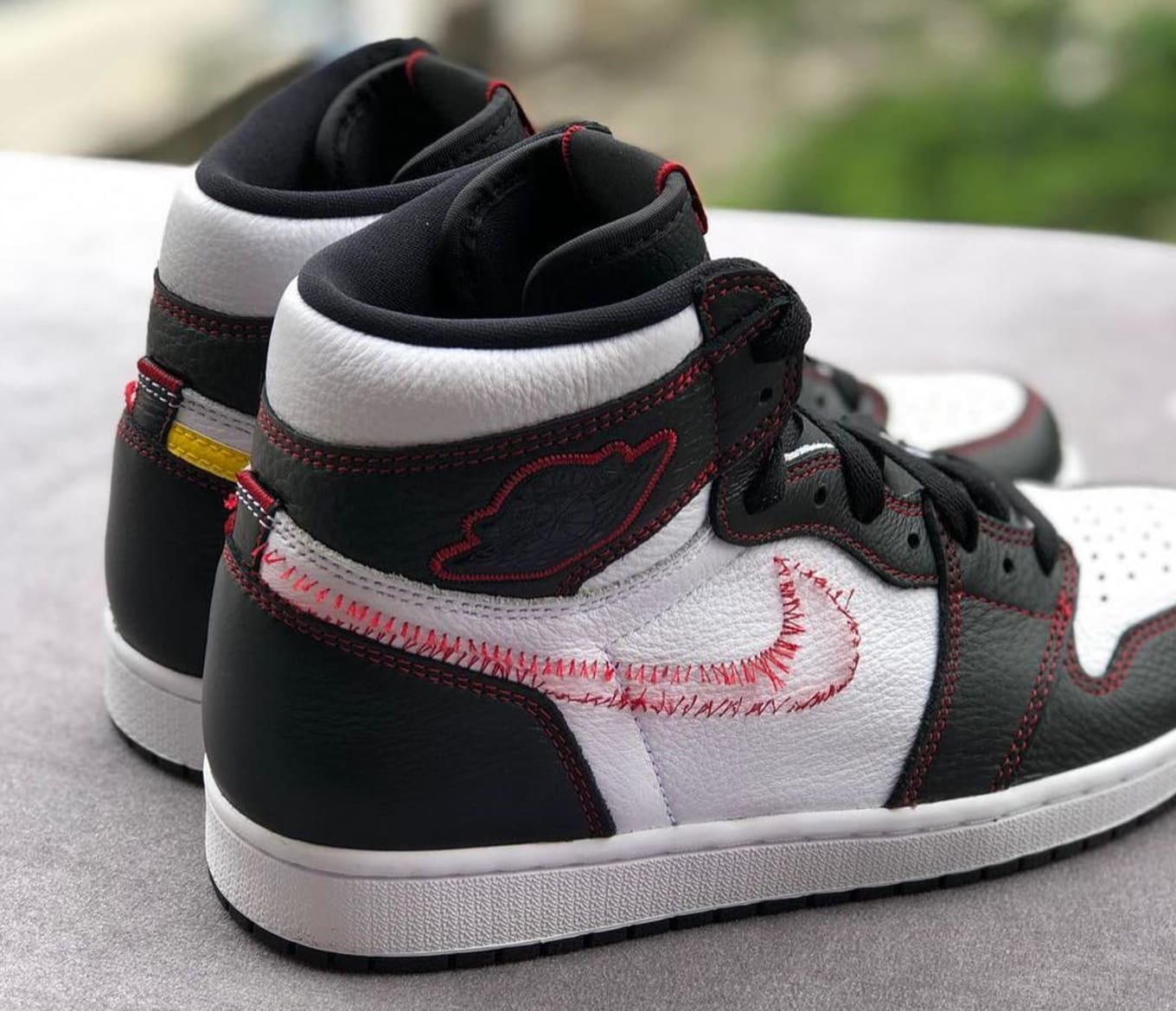 99677988fa68 Air Jordan 1 Retro High OG White Black-Dynamic Yellow-University Red ...