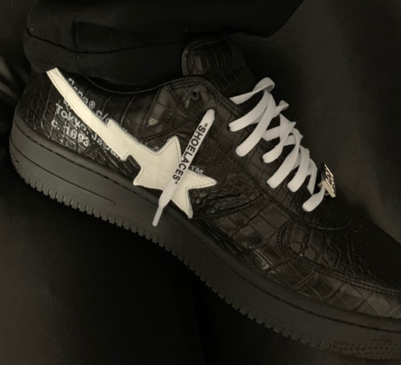 9825ee4a27cb Did Virgil Abloh Just Debut an Off-White x Bape Bapesta