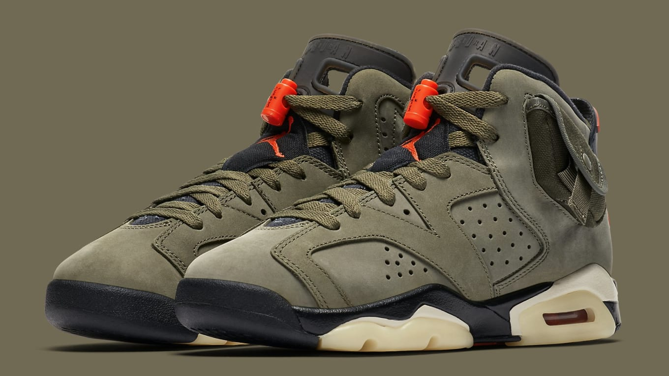 buy online e9ecb e3694 Travis Scott Air Jordan 6 VI Medium Olive Release Date ...