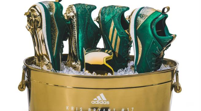 2627326e79d8 Adidas Is Sending Kris Bryant to the Playoffs in Champagne Cleats