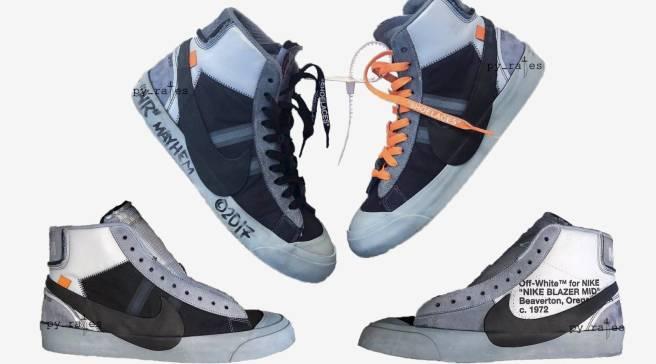 56b7543ab5521 Off-White x Nike Blazer Mid Wolf Grey/Pure Platinum AA3832-001