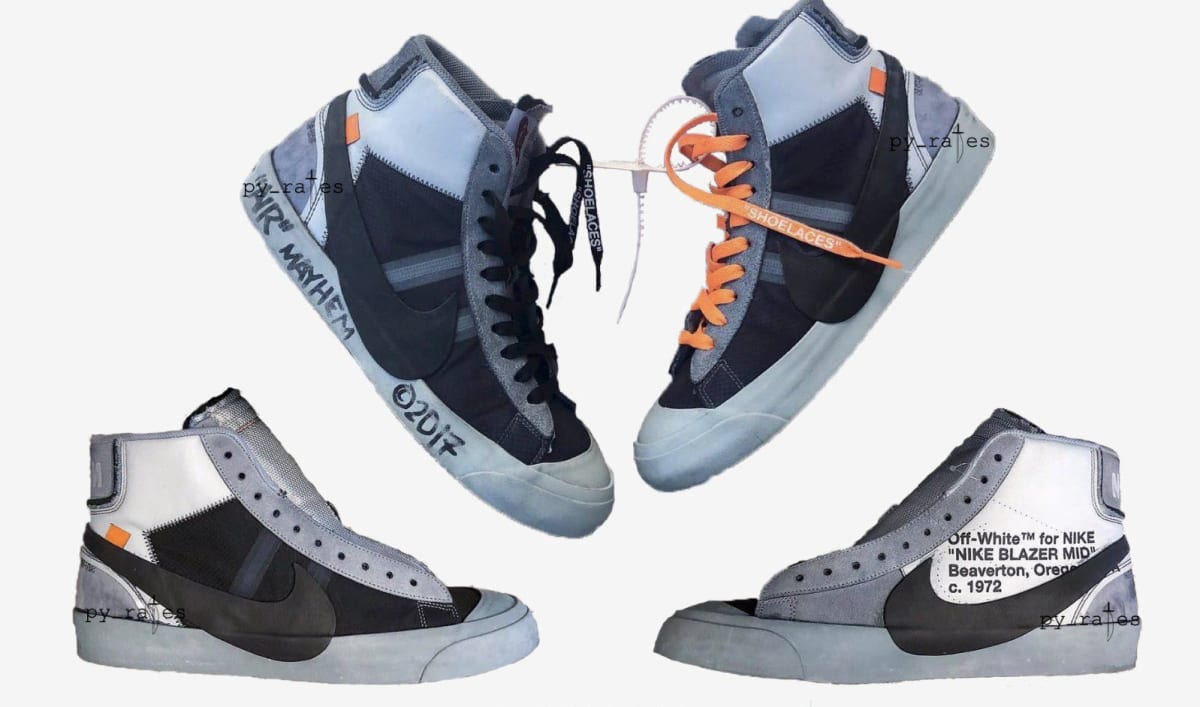 Off-White x Nike Blazer Mid Wolf Grey/Pure Platinum ...