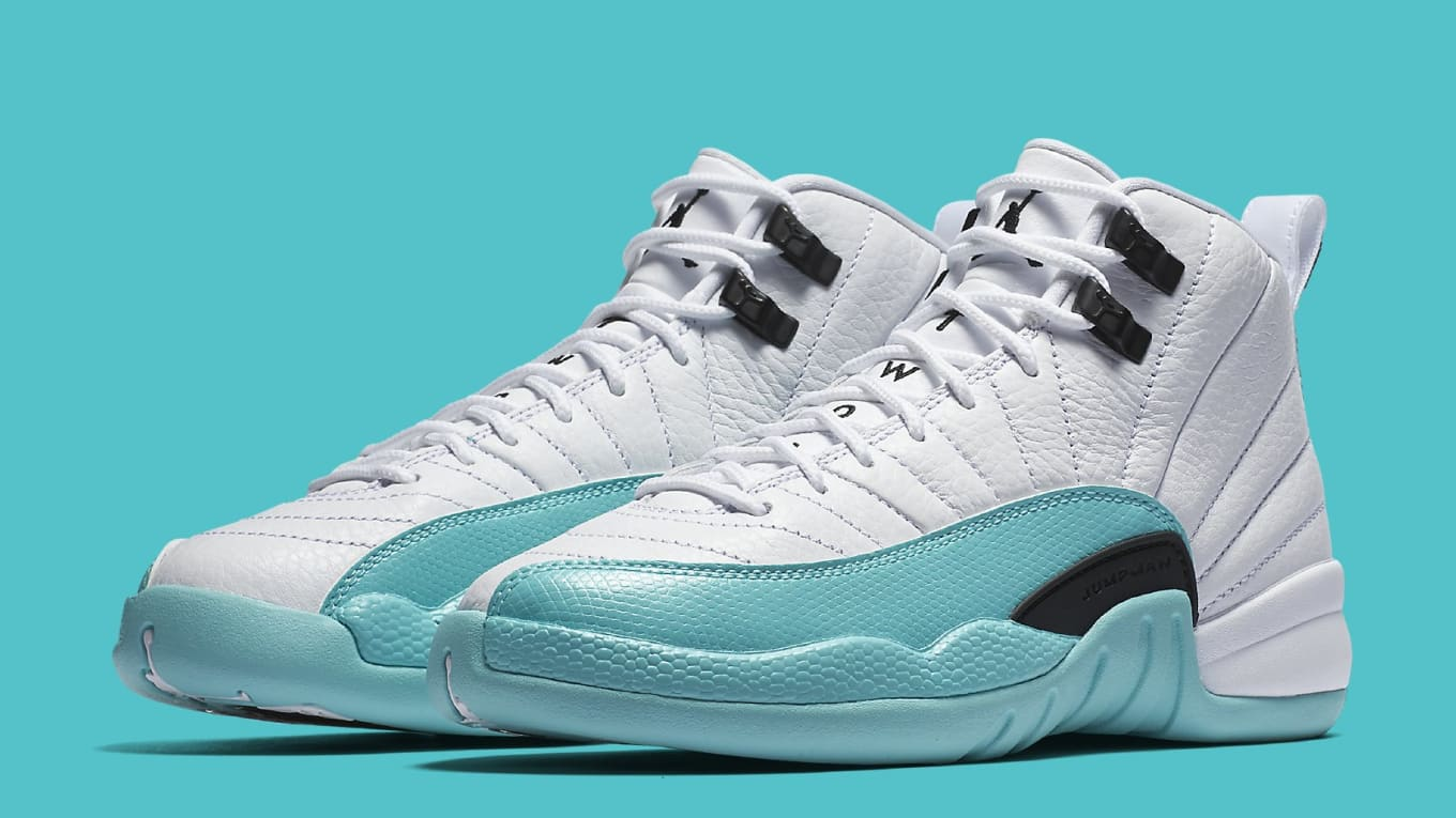 8c61808d8dd275 Air Jordan 12 Retro GG  White Light Aqua-Black  510815-100 Release ...