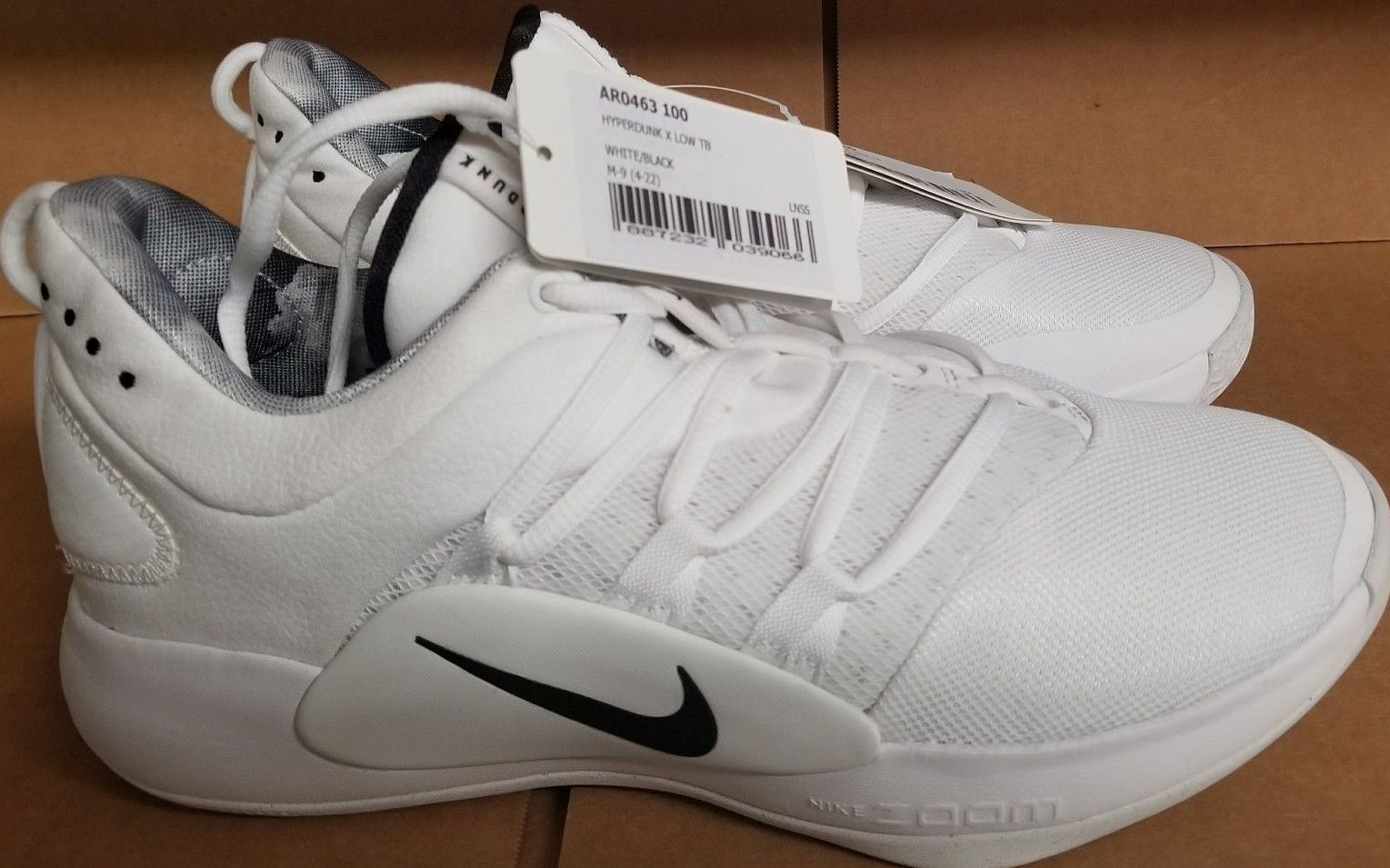 f7924230c59a Nike Hyperdunk X Low TB White Black AR0463-100 Images