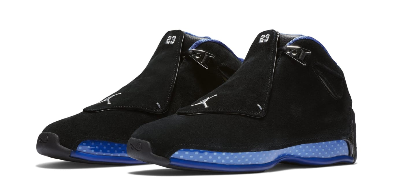 buy online 21375 e9f78 Detailed Look at the  Black Sport Royal  Air Jordan 18 Retro
