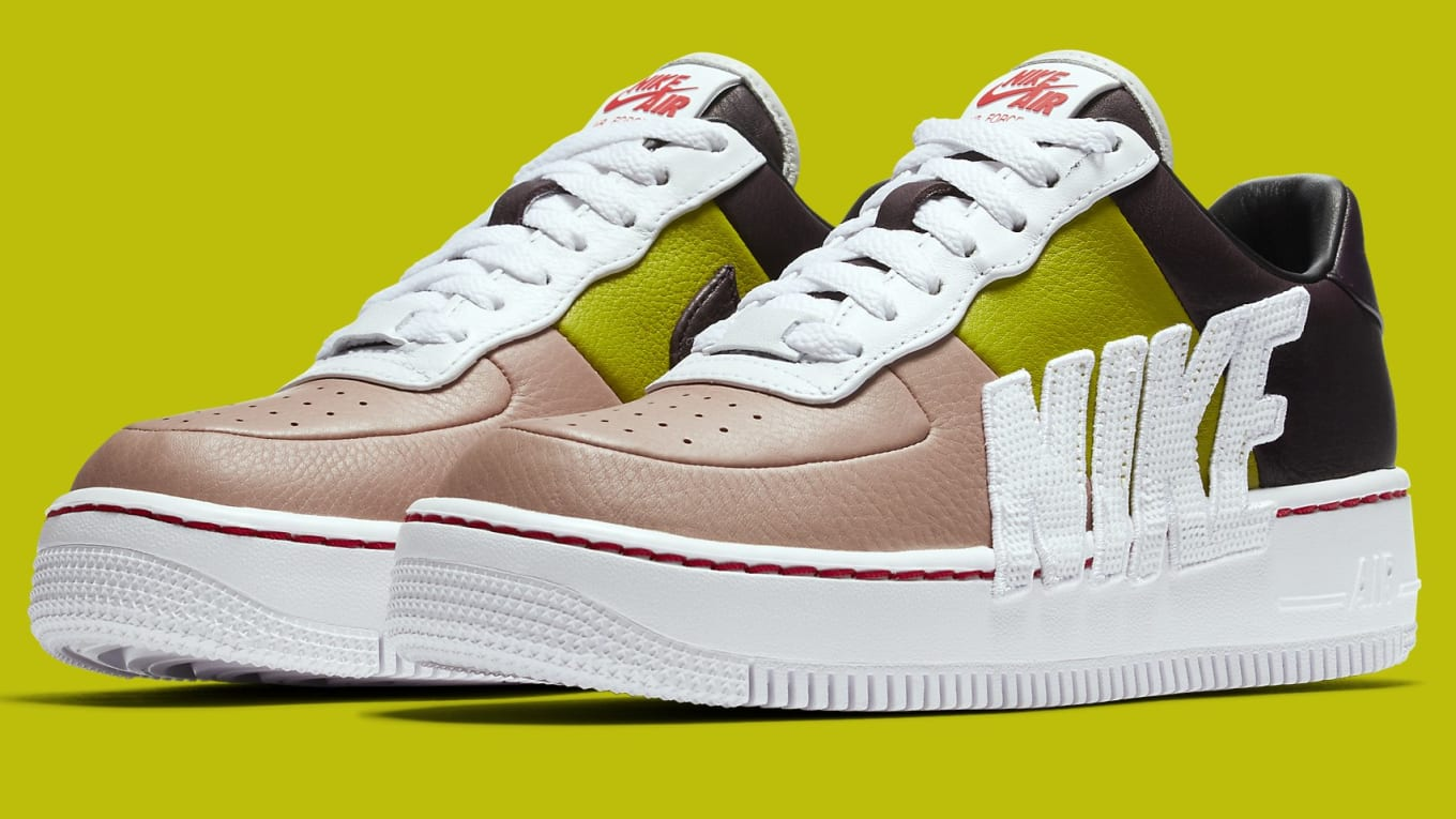 8b10bca55 Nike Switches Up the Branding on Women's Air Force 1s. A new look for the Nike  Air Force 1 Upstep LX.