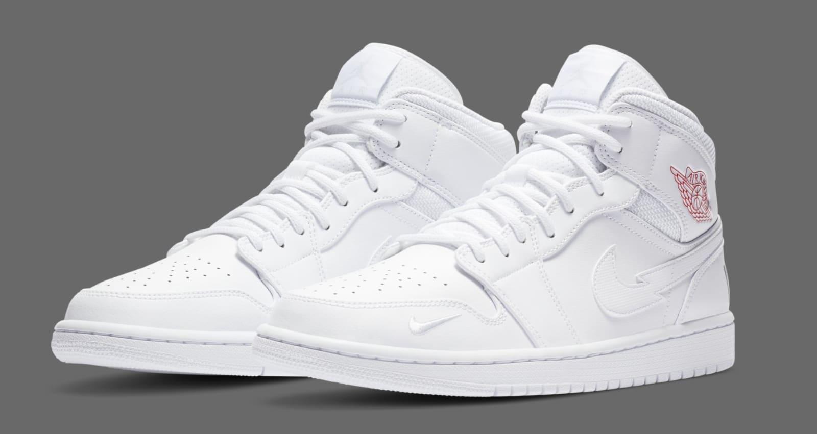 """Air Jordan 1 Mid """"Euro Tour"""" Features New Nike Swoosh: Photos"""