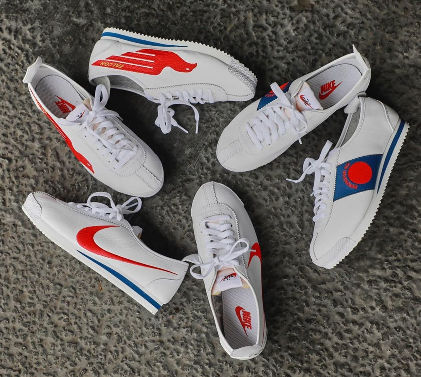 best service e26fd 3ea6a Shoe Dog' x Nike Cortez '72 QS 'White/Varsity Red/Game Royal ...