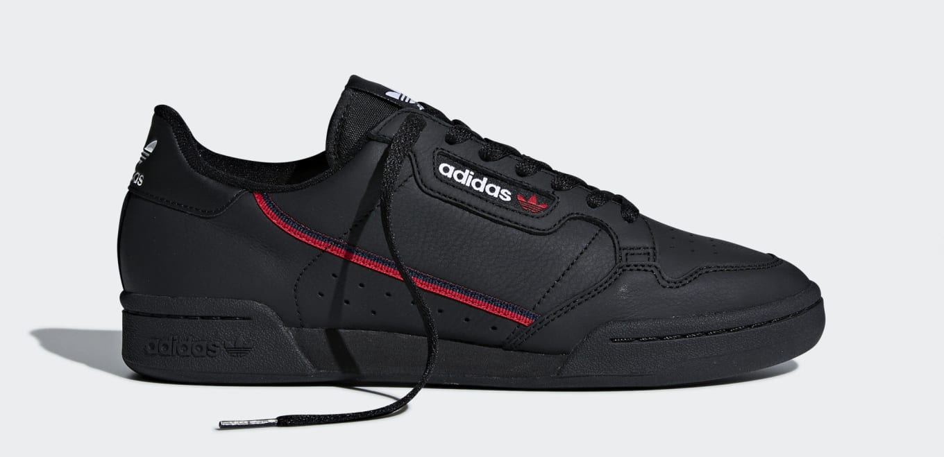 separation shoes 132da 4a099 Adidas Continental 80 Rascal Core Black B41672 (Unlaced). adidas Originals