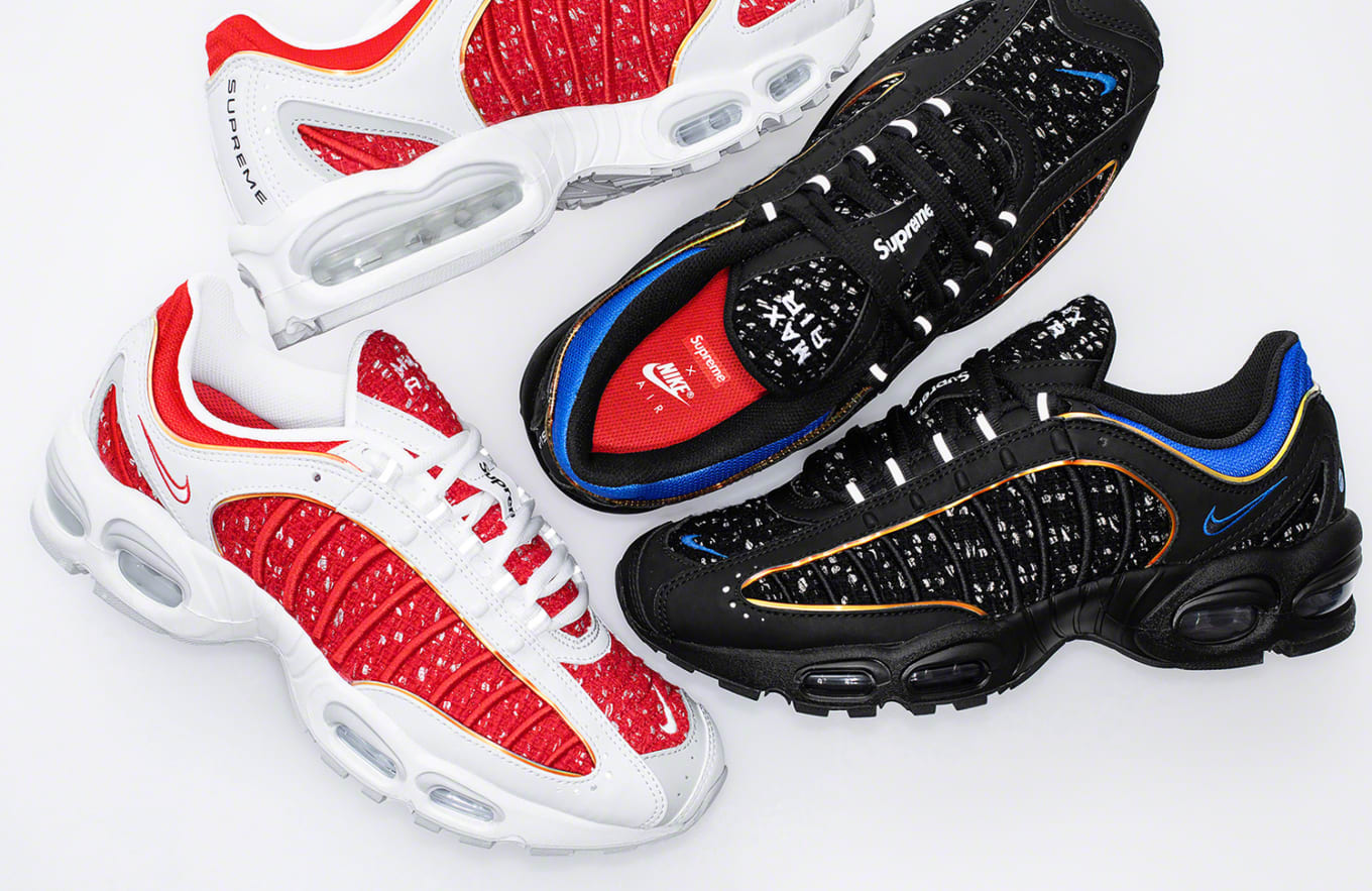 the best attitude b448a fc39f Supreme s Air Max Tailwind 4 Collab Will Release on Nike SNKRS