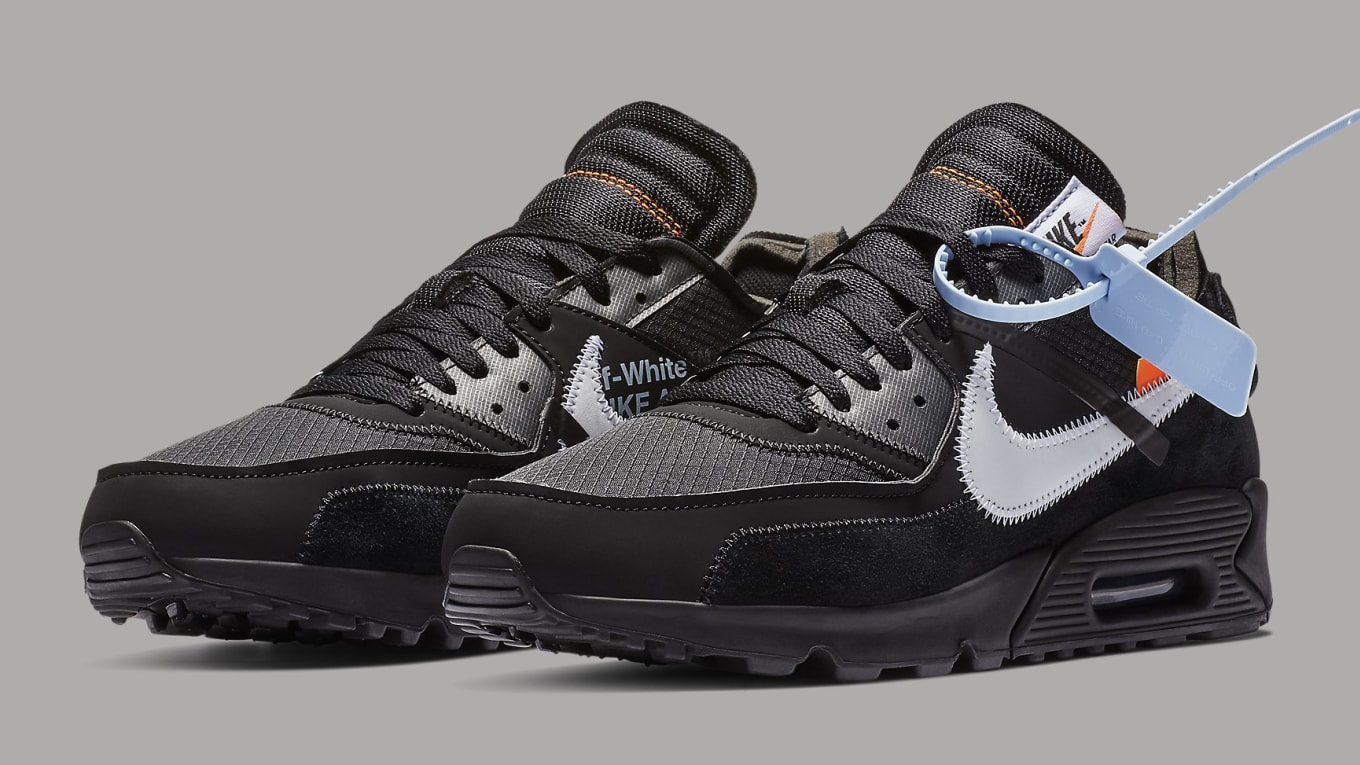 the latest 22a43 7e0c7 Off-White x Nike Air Max 90 Black Cone-White-Black
