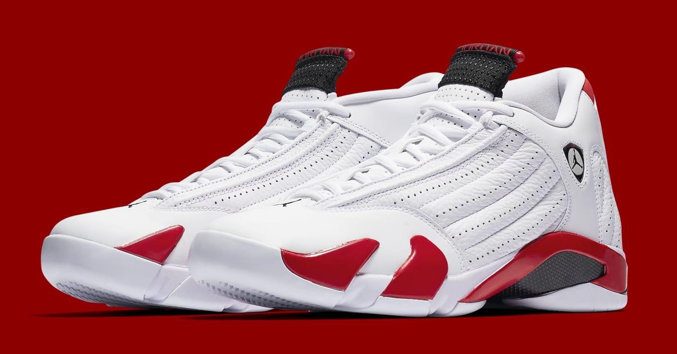 7fee324d033892 Air Jordan 14 Rip Hamilton PE  White Varsity Red-Metallic Silver ...