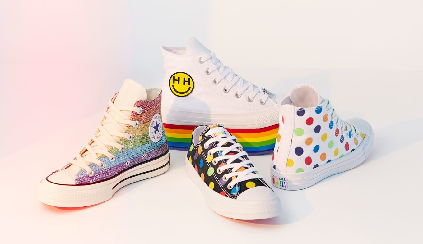 b079b70bd57014 Miley Cyrus x Converse Chuck Taylor LGBT Pride Collection 2018 ...