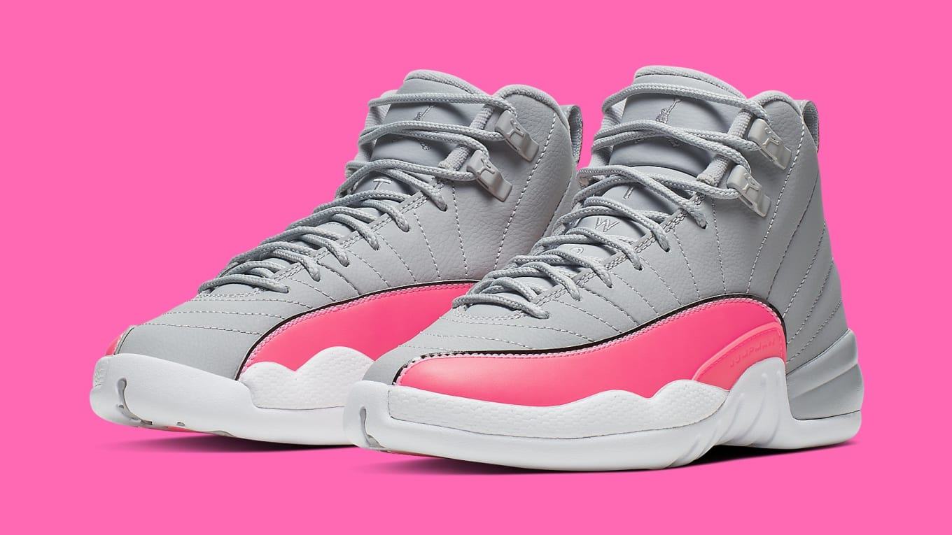 on sale 0bca3 4f466 Air Jordan 12 GS Grey/Pink Release Date 510815-060 | Sole ...