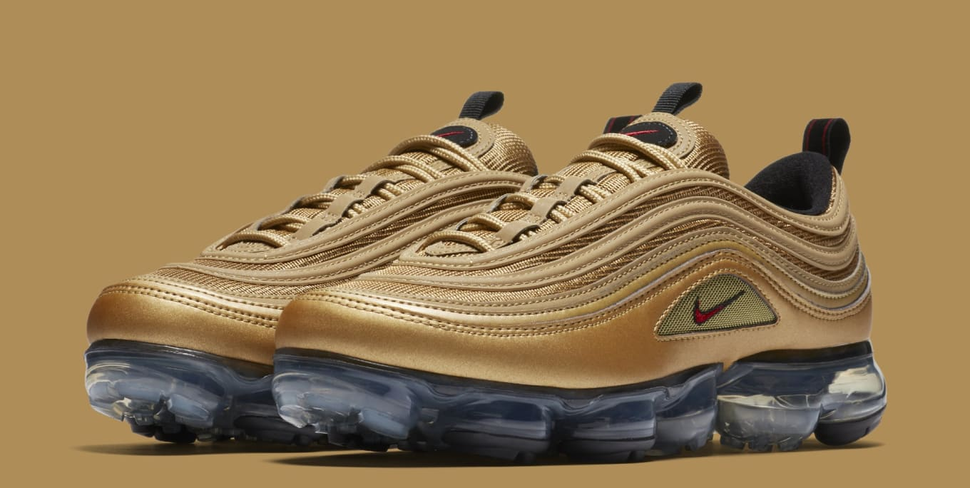 8be1c8d702 Nike Air VaporMax 97 'Metallic Gold' AJ7291-700 Release Date | Sole ...