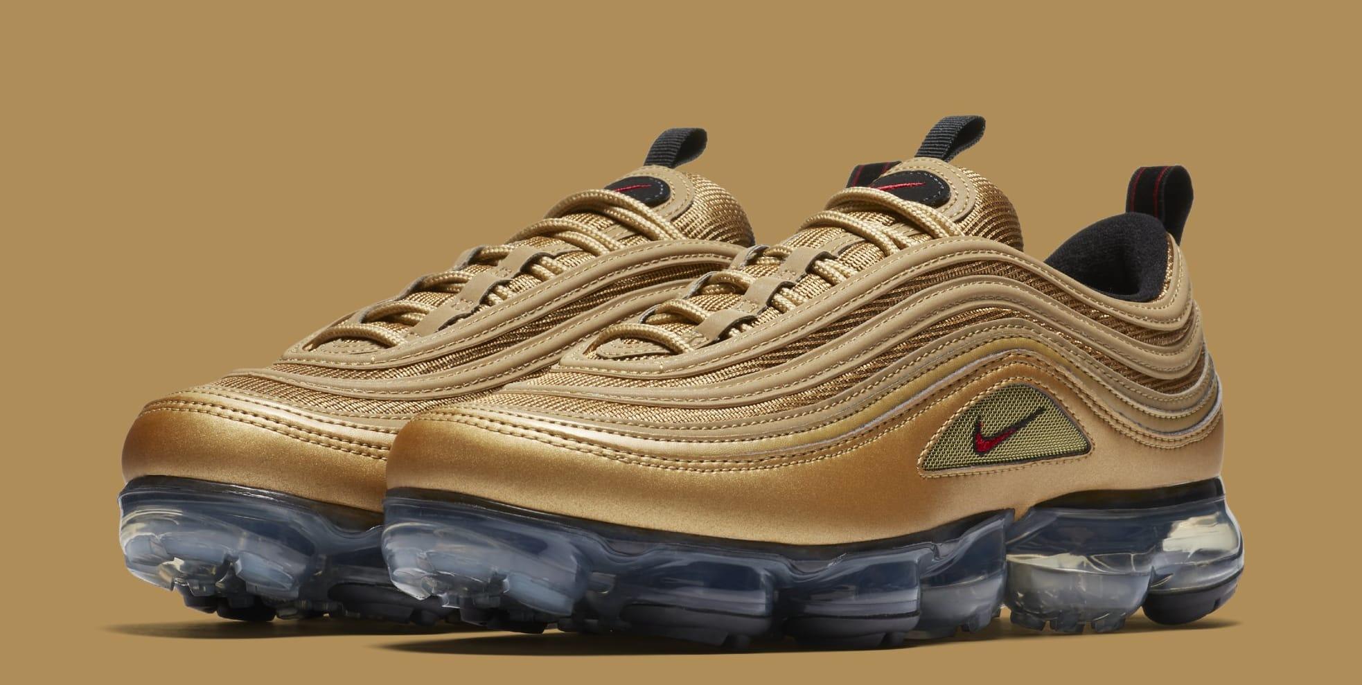 Nike Air Vapormax '97 Metallic Gold/ Varsity Red