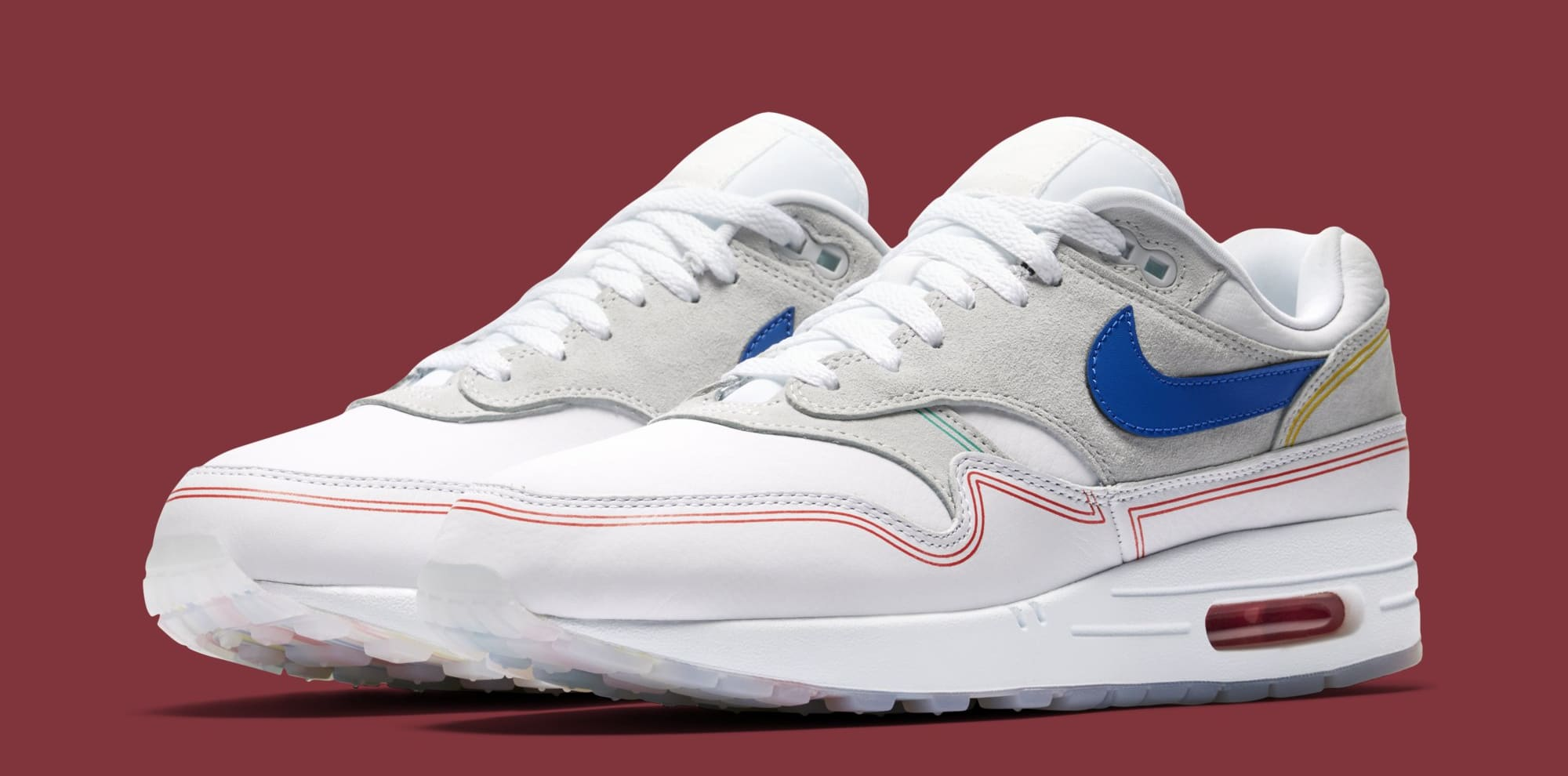 new products e9c75 fdd62 ... purchase nike air max 1 centre pompidou pure platinum av3735 002 wolf  grey d4780 ef724