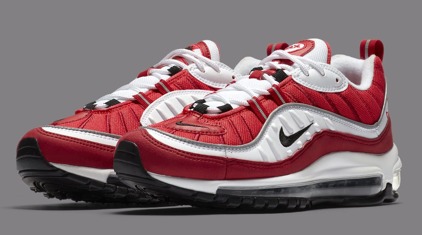 hot sale online 0efa4 702a8 Nike Air Max 98 White/Black-Gym Red-Reflect Silver AH6799 ...