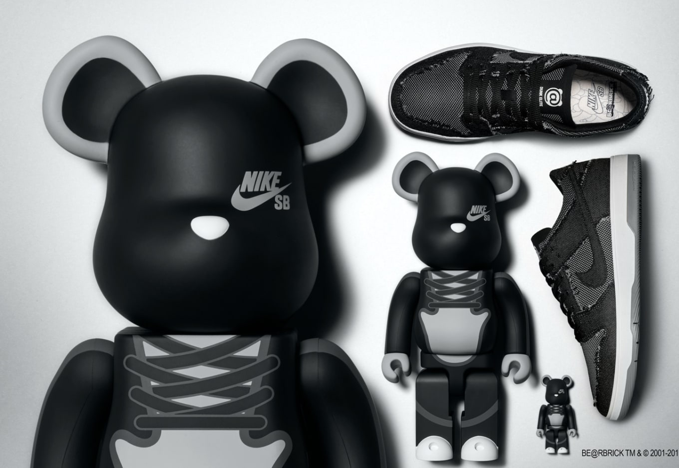 stable quality low cost shoes for cheap Nike SB Dunk Low Elite x Medicom 'Be@rbrick' 877063-002 Release ...