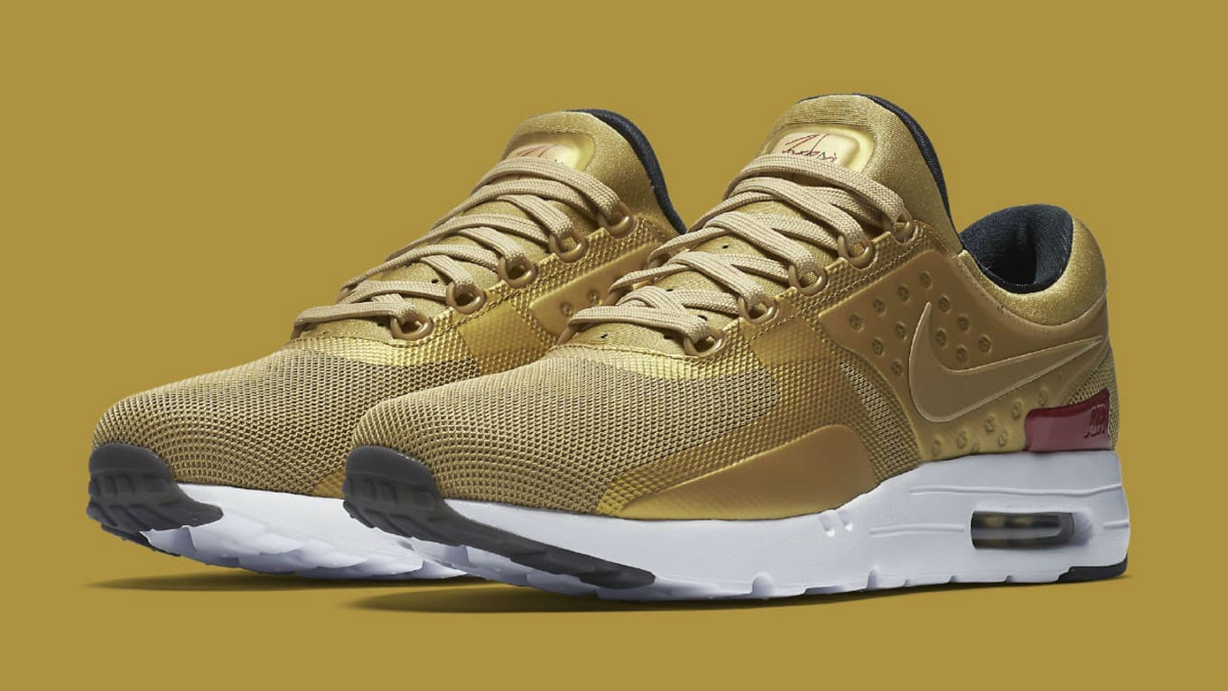 Metallic 700Sole Zero Air Release Max Date Nike Collector Gold 789695 ZPiTukOX