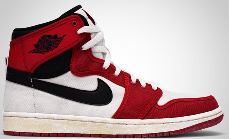 on sale 1b41f 52665 Air Jordan 1 High Retro KO Vintage White Black Varsity Red
