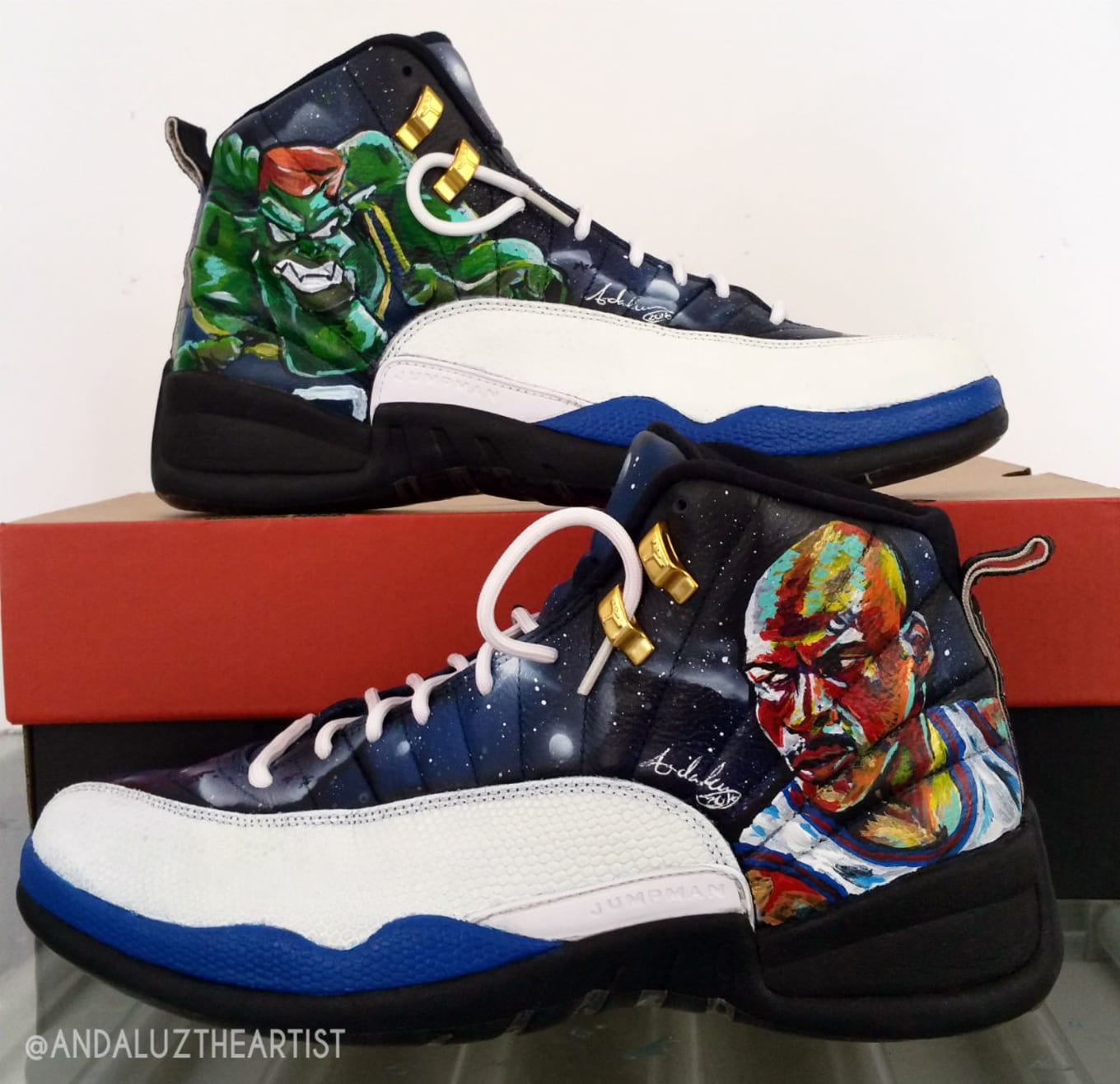 outlet store 66bd3 4d9ff Air Jordan 12 by Andaluz the Artist