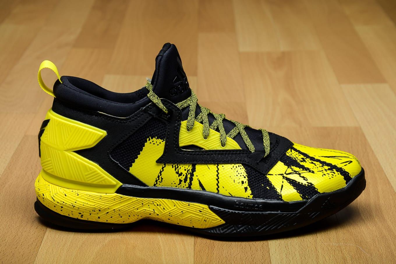 adidas D Lillard 2 Black Yellow B42354  feded5277