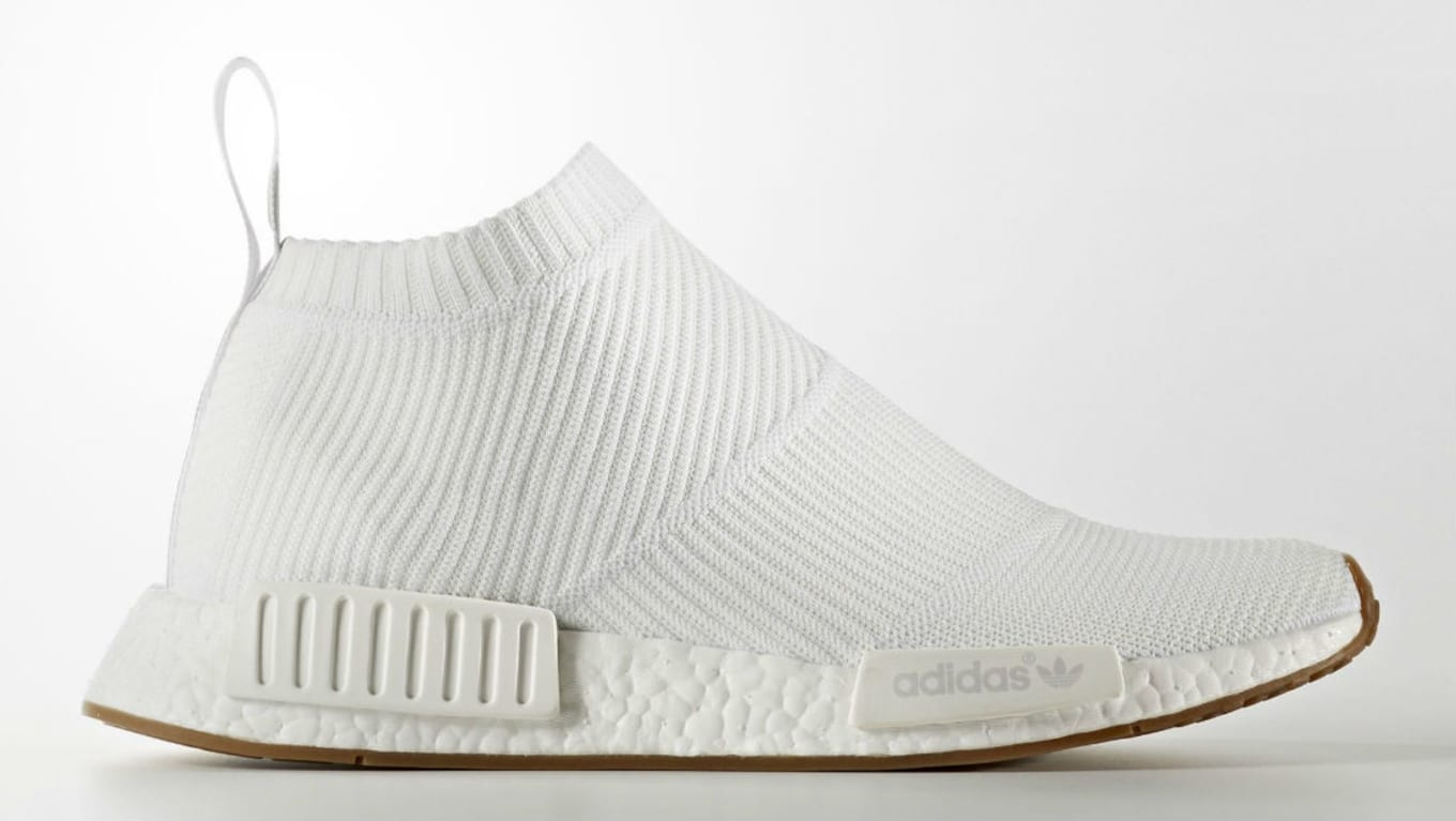 3b8d2b8cceedd ... NMD City Sock in White. The adidas NMD CS1 presented in white and gum.