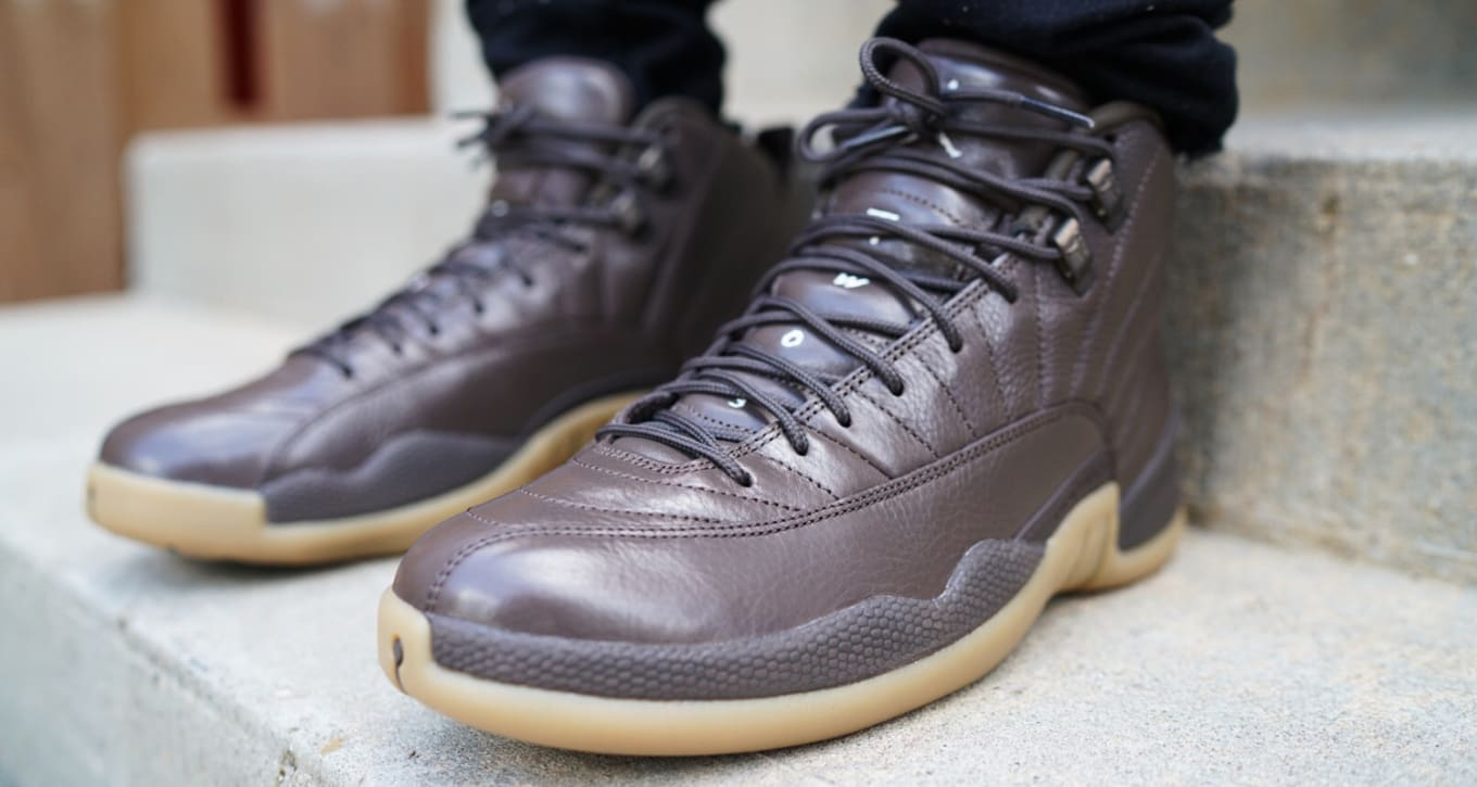 Air Jordan 12s in chocolate and gum for Anthony Hamilton. 51107a72e5b9