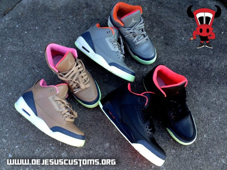 Air Jordan III 3 Customs  d4e152adafc9