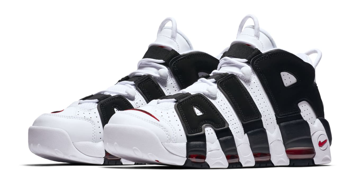 58c7891fdc5d5 Nike Air More Uptempo White Black Varsity Red 414962-105 Release ...