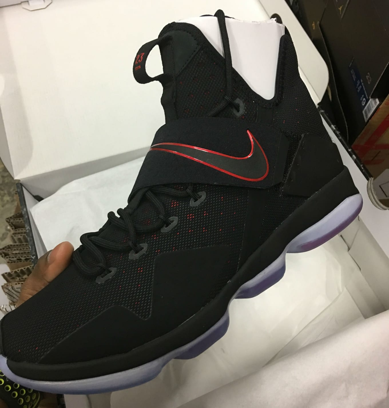 cheap for discount 4c1b8 c7bb1 ... low triple black 878636 002 14 eb29c eb542 italy nike lebron 14 xiv  ddcc0 d74af ...