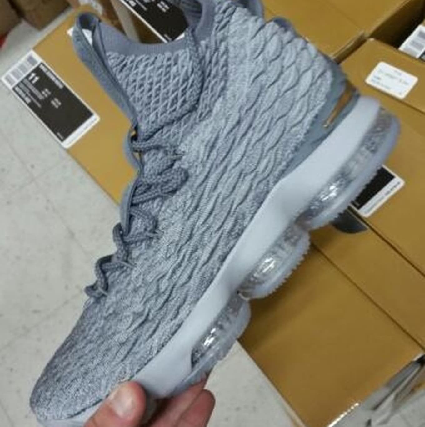 74385667c68 Nike LeBron 15 Grey Gold Release Date 897648-005