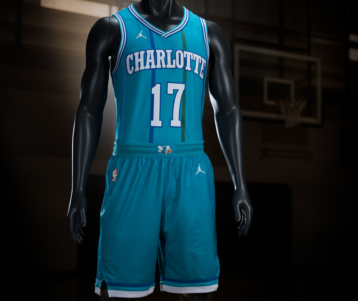336ef08ccb21 Nike Charlotte Hornets Classic Throwback Jersey