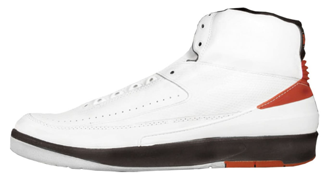 8b0a7b2320ec7b Air Jordan 2 White Black-Red