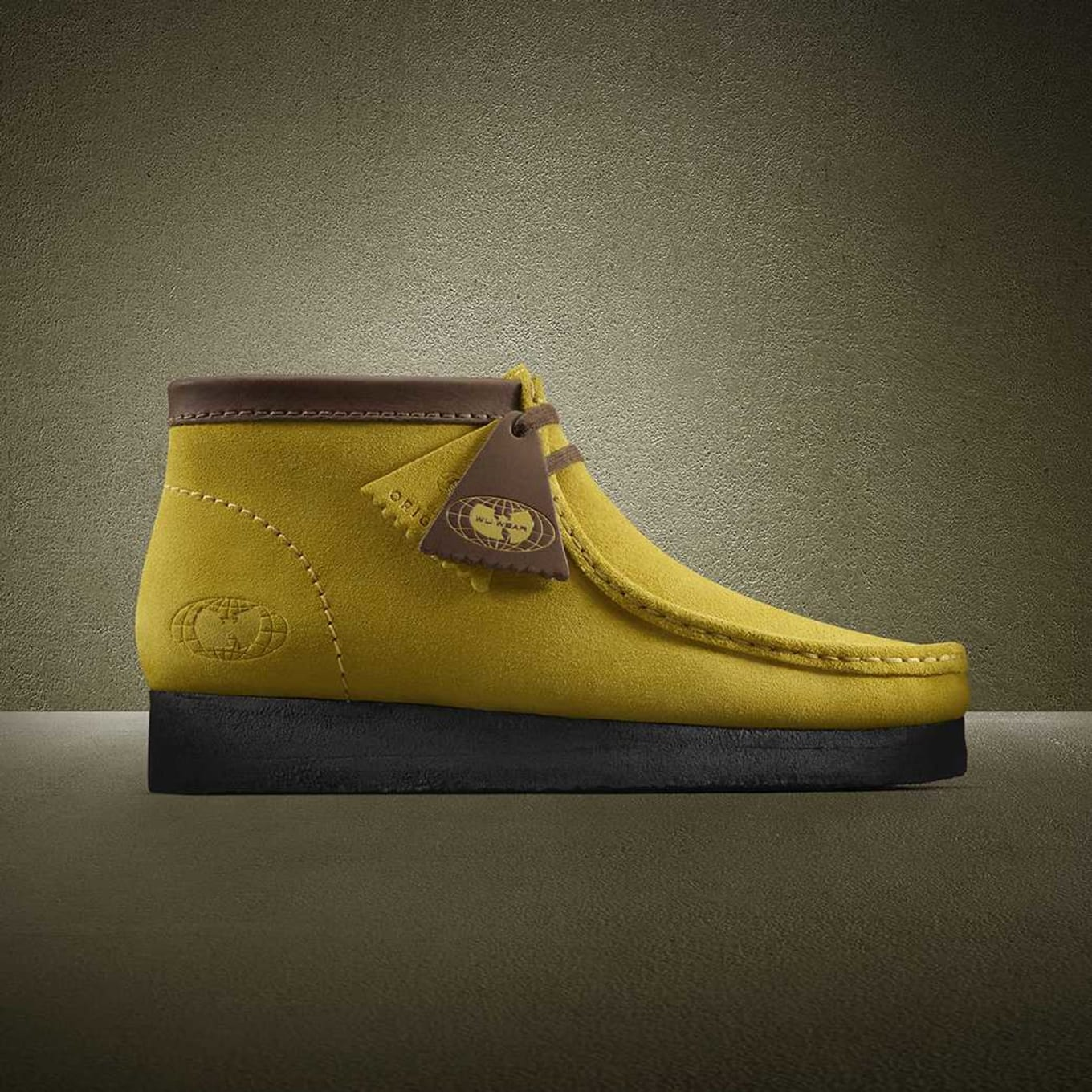 huge sale usa cheap sale latest Wu-Wear x Clarks Wallabees 25th Anniversary Yellow | Sole ...