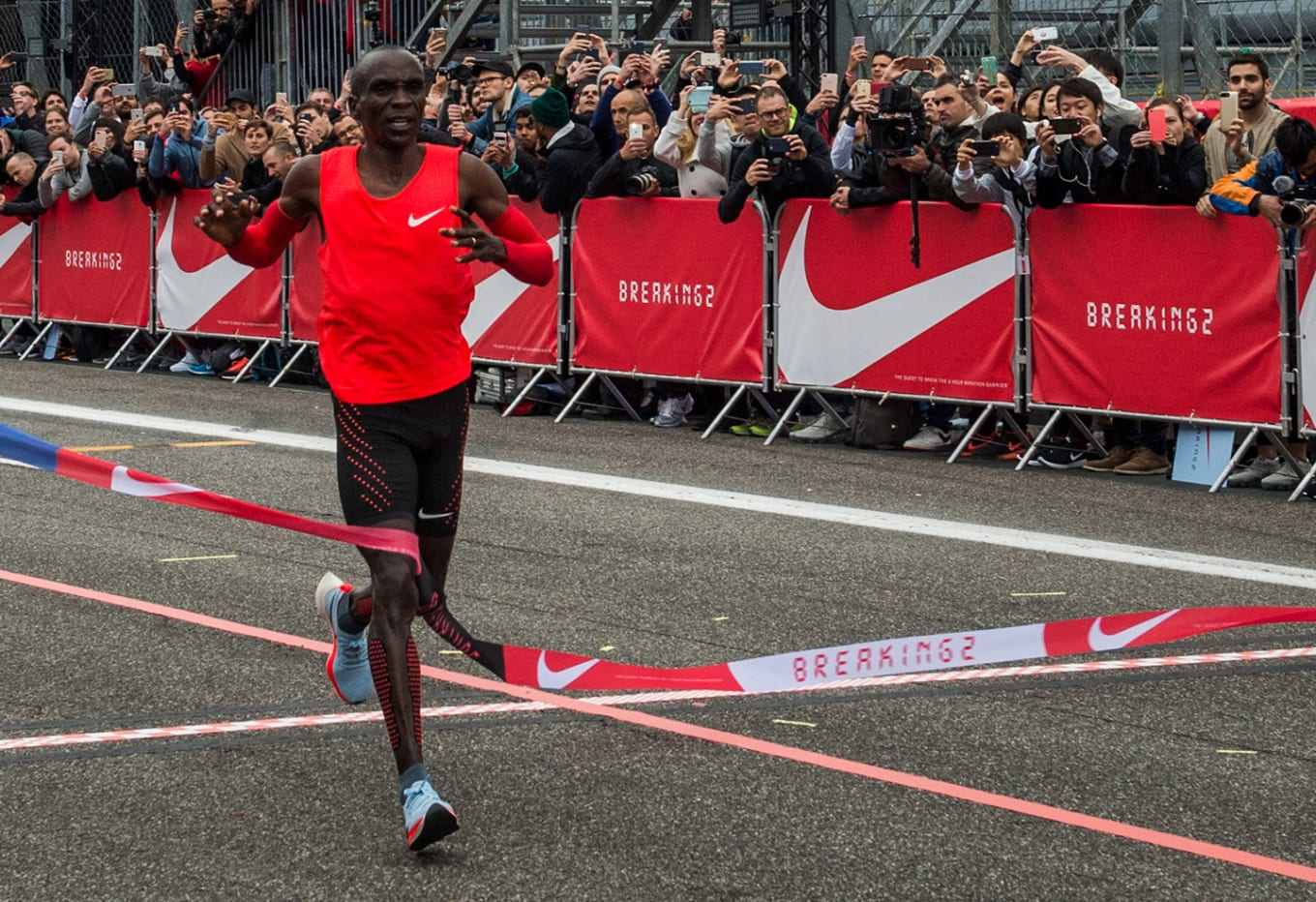 4e40cc516c15 Runner Eliud Kipchoge on what he s doing with his Zoom VaporFly Elites.