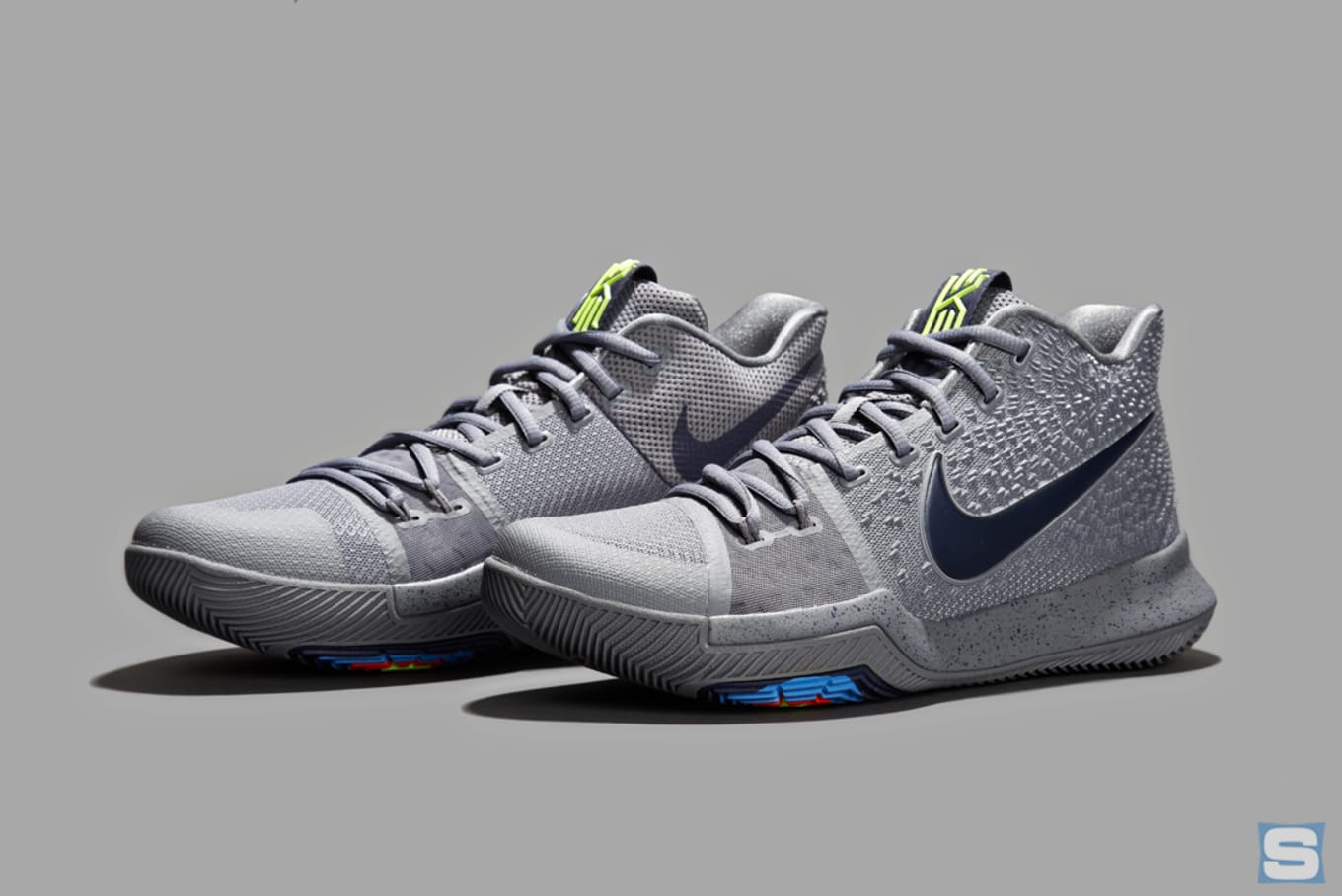 Nike Kyrie 3 Cool Grey Midnight Navy Pure Release Date 852395-001 ... ee879e22b