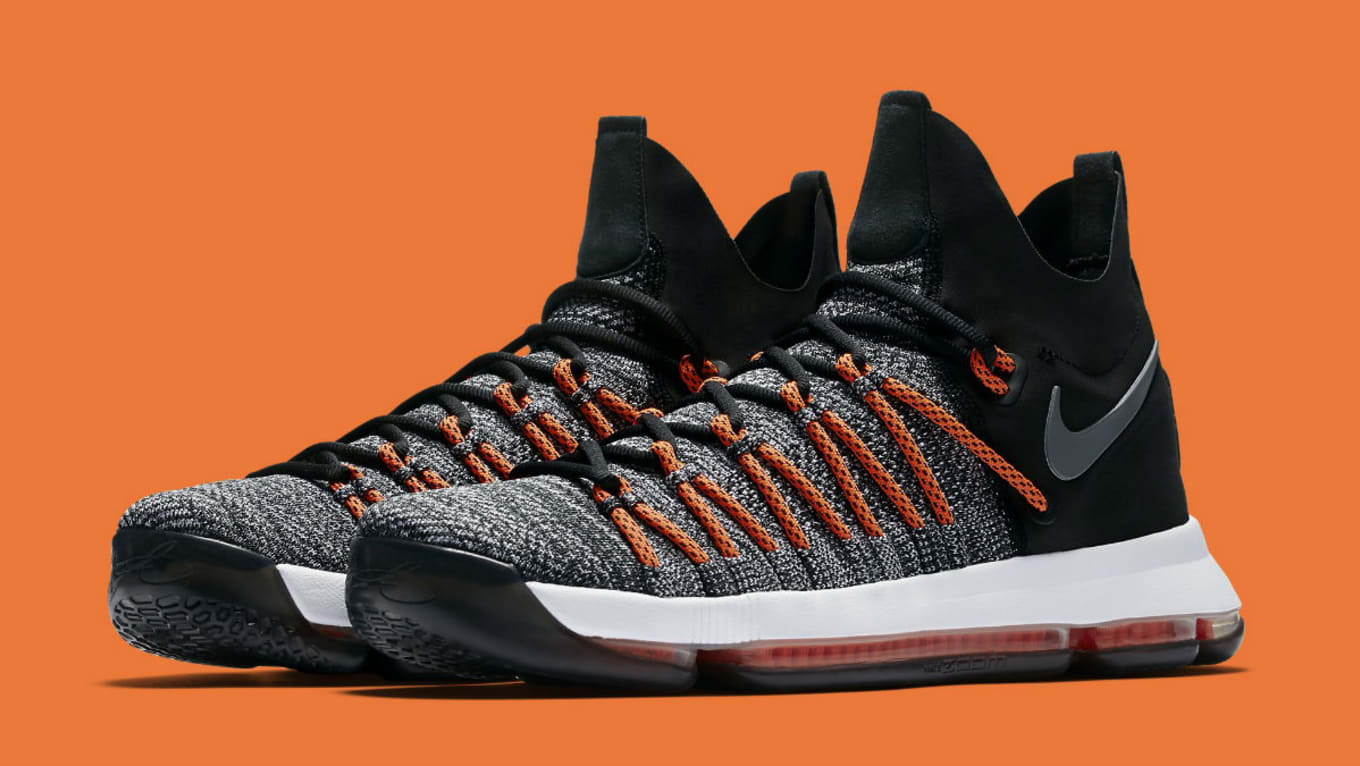 big sale 60c3f 9a0d8 Nike KD 9 Elite Black White Dark Grey Hyper Orange Release Date ...