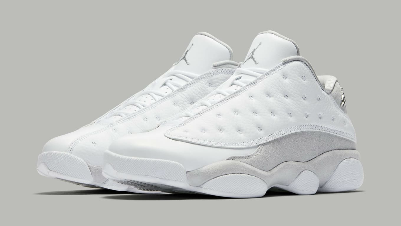 ed7a23b83392 Air Jordan 13 Low Pure Platinum Release Date 310810-100