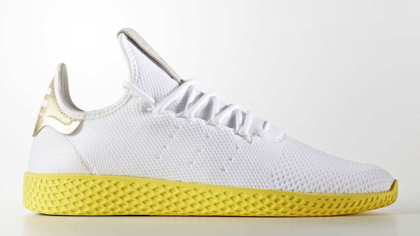 ad454f388 Pharrell Strikes Gold with the Adidas Tennis Hu. Second colorway part of  the initial launch.