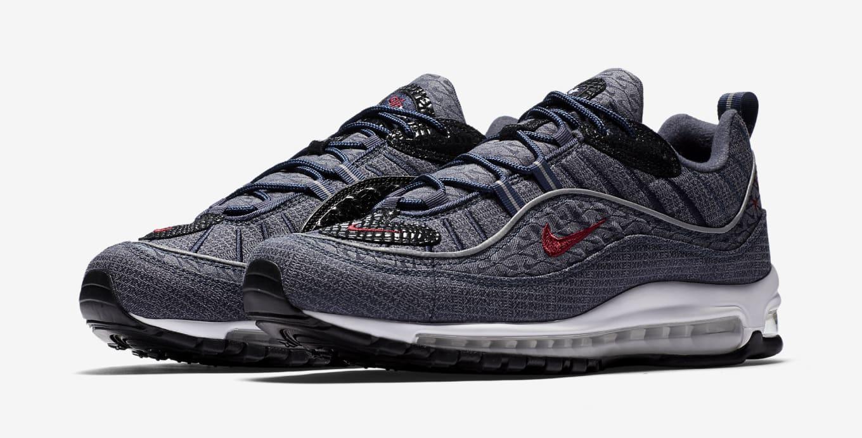 newest 8ba33 10097 Denim Nike Air Max 98 924462-400   Sole Collector