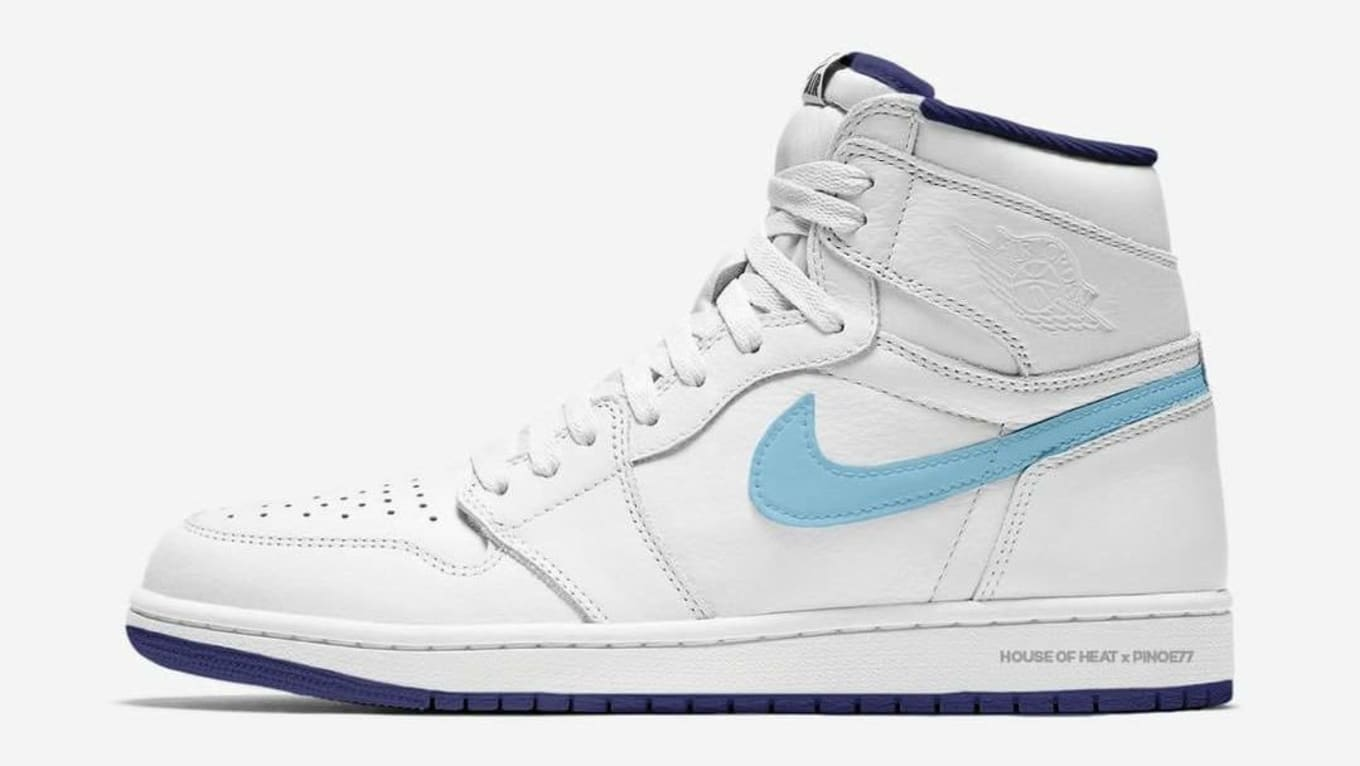 64d1a9b543d Air Jordan 1 High White University Blue Navy All-Star Weekend 2019 ...
